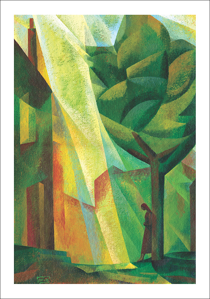 Light Reaches Down meditation card