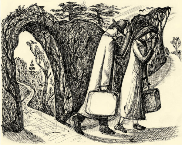 Expulsion From the Garden print