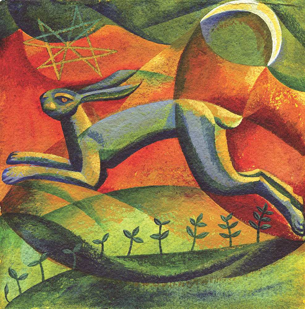 Mystic Hare greeting card
